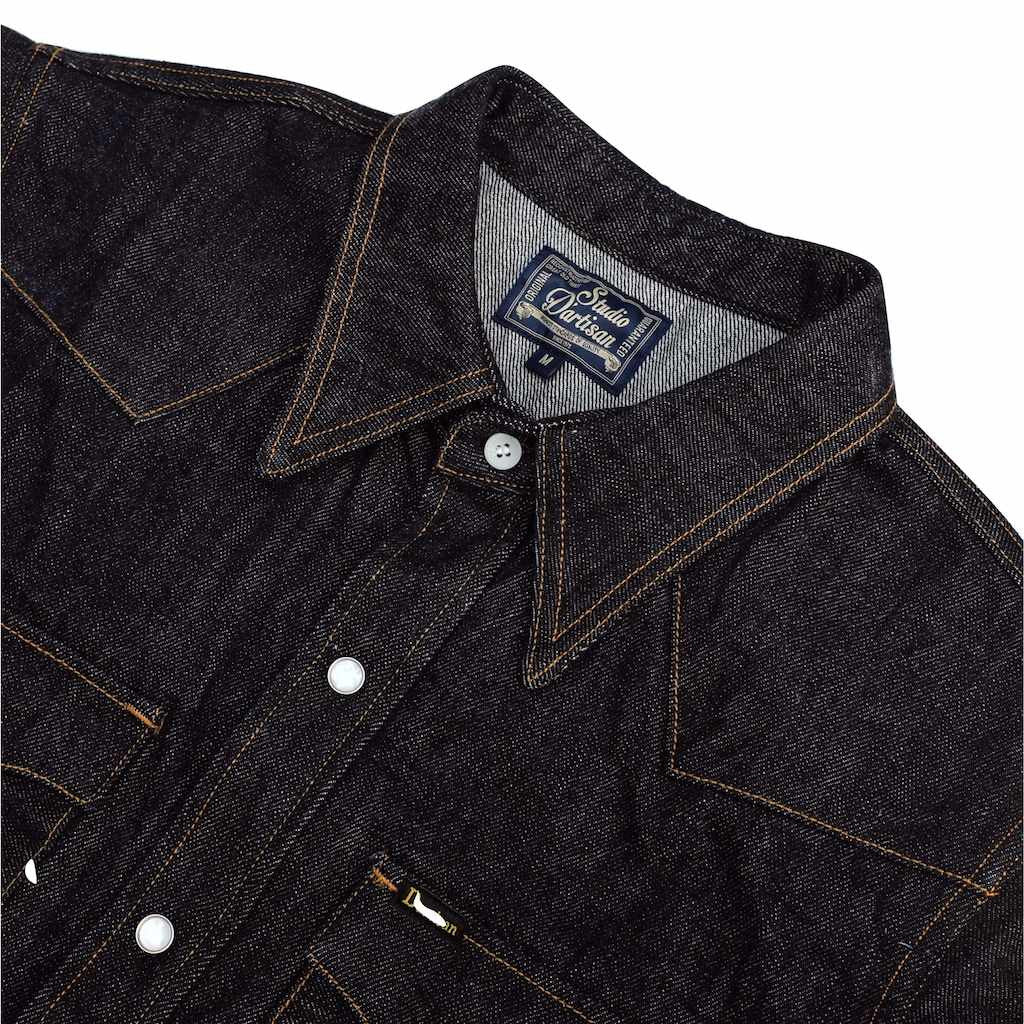 Studio D'Artisan 14oz. Selvedge Denim Western Shirt