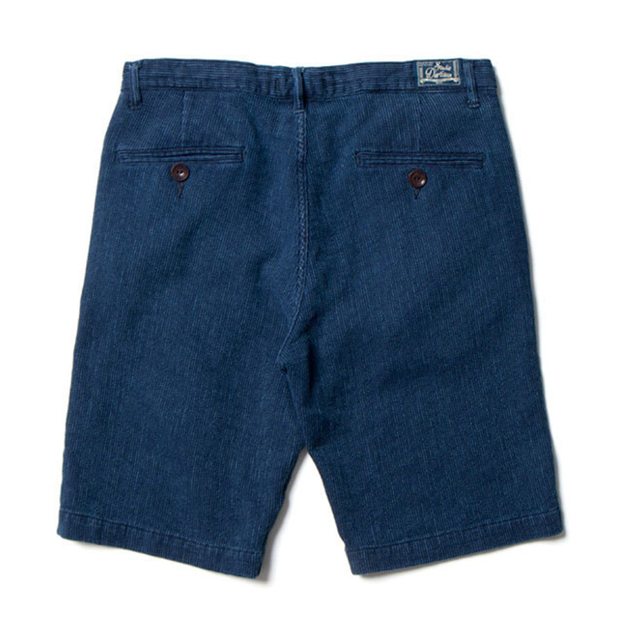[Pre-Order] Studio D'Artisan 1798U Distressed Indigo Dobby Cloth Shorts