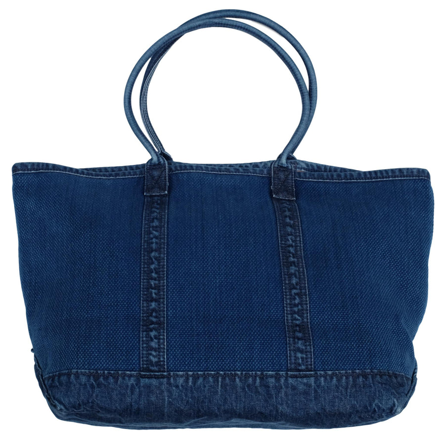 Studio D'Artisan Distressed Indigo Sashiko Travel Tote Bag