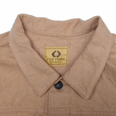 [Pre-Order] Studio D'Artisan 15oz. Foxfibre® Organic Coyote Color Selvedge Jacket
