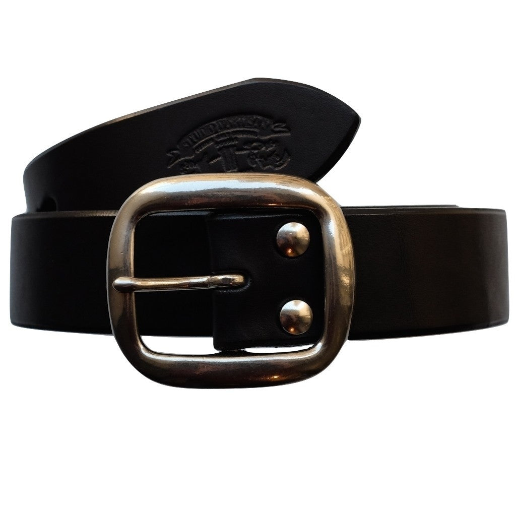 Studio D'Artisan B-81 Leather Belt (Black)