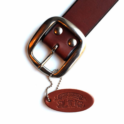 Studio D'Artisan B-81 Leather Belt (Brown) - Okayama Denim Accessories - Selvedge