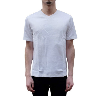 "armi ""Smart"" Merino Lambswool x Egyptian Cotton V-Neck Tee - Okayama Denim T-Shirts - Selvedge"