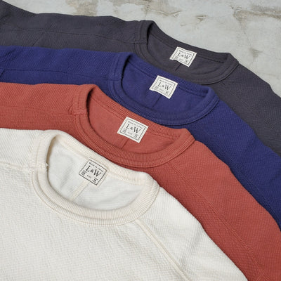 Loop & Weft Twill Face Crewneck L/S Tee (Navy)