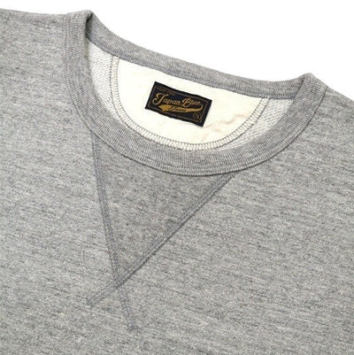 Japan Blue 18 Gauge Super Heavy Inlay Sweat Tee (Gray) - Okayama Denim T-Shirts - Selvedge