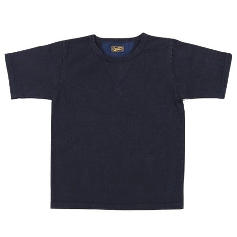 Japan Blue 18 Gauge Super Heavy Inlay Sweat Tee (Navy)