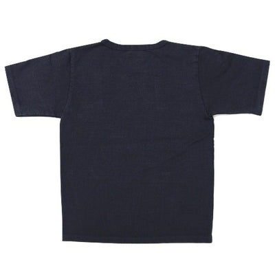 Japan Blue 18 Gauge Super Heavy Inlay Sweat Tee (Navy) - Okayama Denim T-Shirts - Selvedge