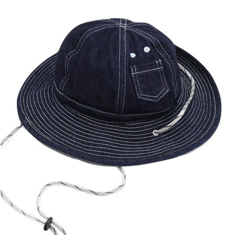 Japan Blue Denim Safari Hat