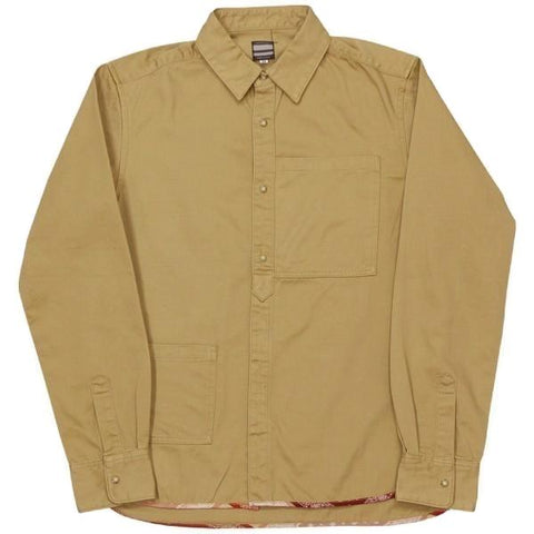 Momotaro Loose Satin Square Pocket Shirt (Beige)