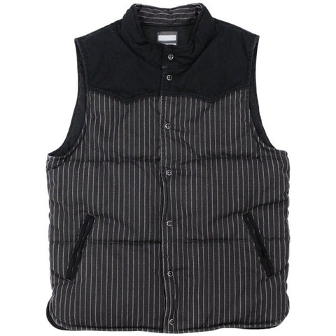 Momotaro Black Wabash Stripe Military Vest