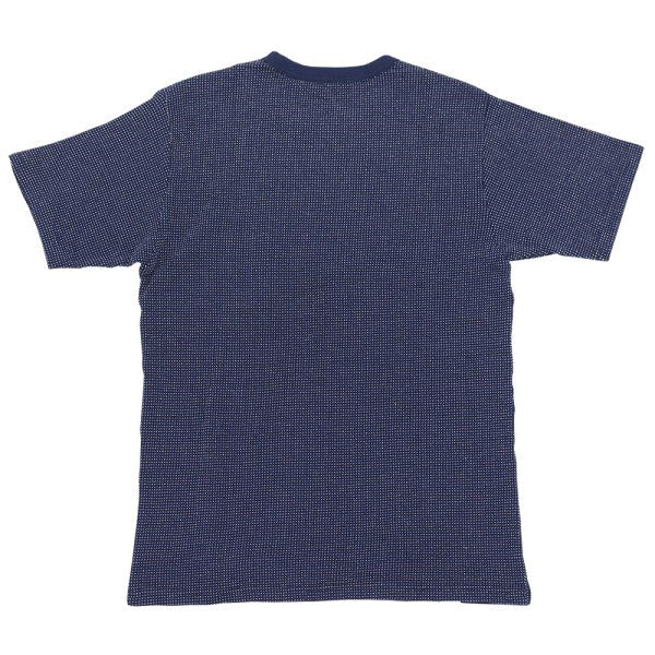 Momotaro Double Knit Dotted Indigo Tee