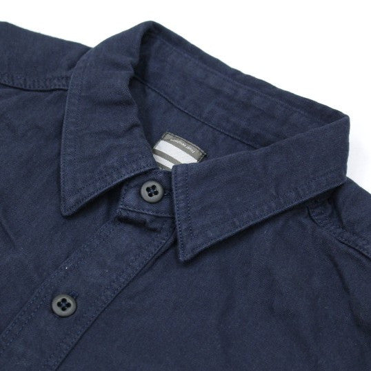 Momotaro Cotton x Linen Military Shirt (Navy)