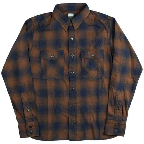 Momotaro Indigo Plaid Work Shirt (Brown)