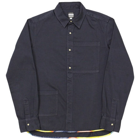Momotaro Loose Satin Square Pocket Shirt (Black)