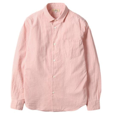 Japan Blue 5oz. Côte d'Ivoire Tailored Chambray Shirt (Pink) - Okayama Denim Shirt - Selvedge
