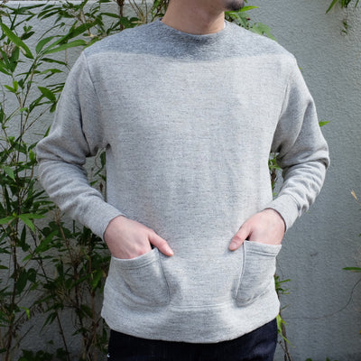 Loop & Weft Vintage Slub Cotton 1950s Boatneck Sweatshirt