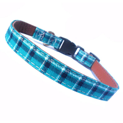 Adjustable Fabric Dog Collars Green