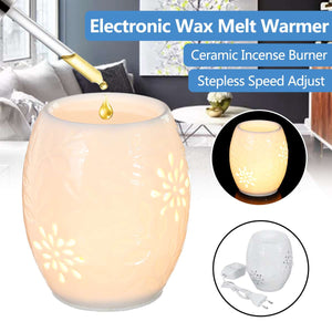 Electronic Ceramic Aromatherapy Sleep Yoga Aroma Oil Burner Warmer Scented Candle Burner Wax Melt Warmer Night Lamp EU/UK Plug