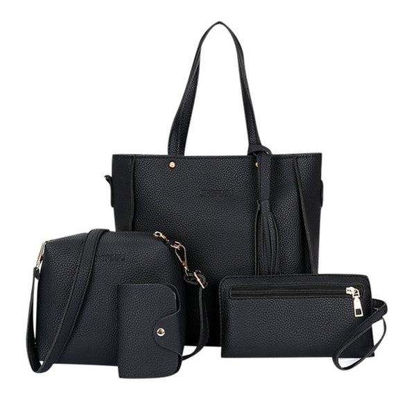 ISHOWTIENDA 4pcs Woman Bag Set
