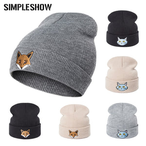 2019 New  Winter Hat High Quality Hedging Cap Knit Solid Color Cute Cartoon Skullies Beanies For Women Men Warm Soft hat