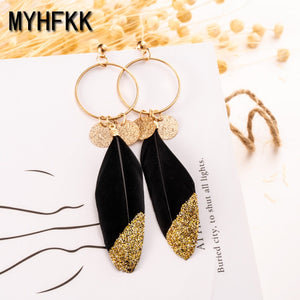 Ms. Fringe Pendant Long Earrings