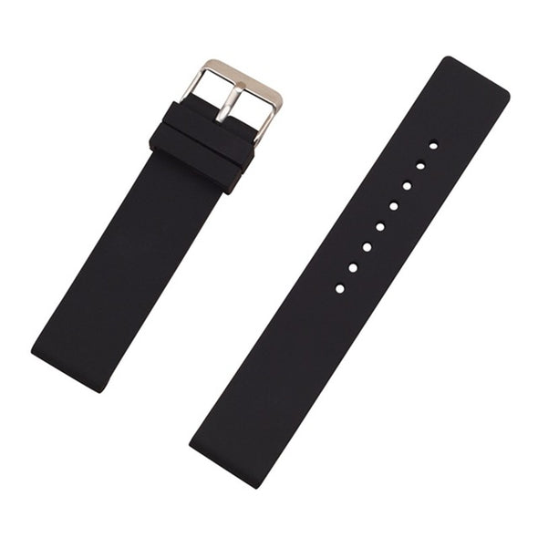 AOOW Generic Watch Strap for Sport Watch 12mm 14mm 16mm 18mm 20mm 22mm 24mm Silicone Rubber Watchband Wrist Belt Bracelet