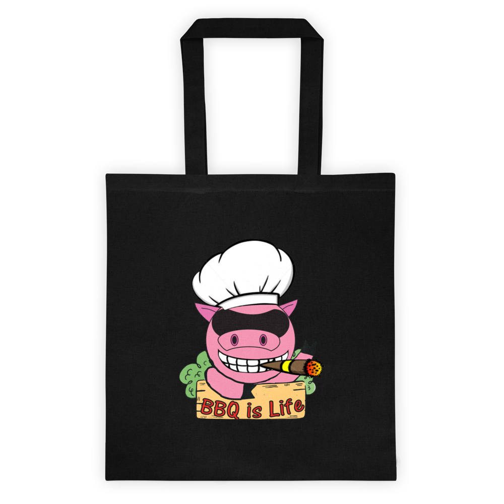BBQ is Life Logo Tote bag
