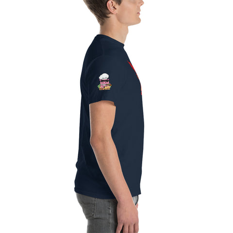 BBQ is Life Team Member with Logo on Right Sleeve Short-Sleeve T-Shirt