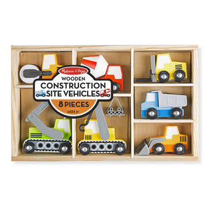 Wooden Construction Site Vehicles Set