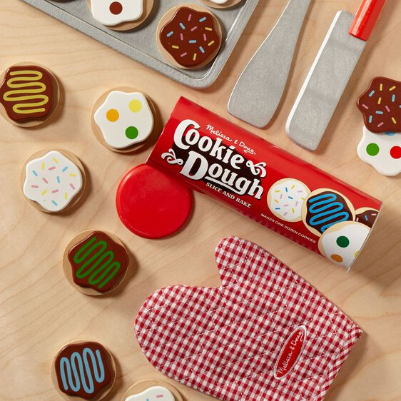 Slice and Bake Cookie Set Wooden Play Food