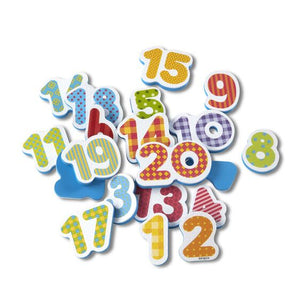 Tub Stickables Numbers Soft Shape Bath Toys