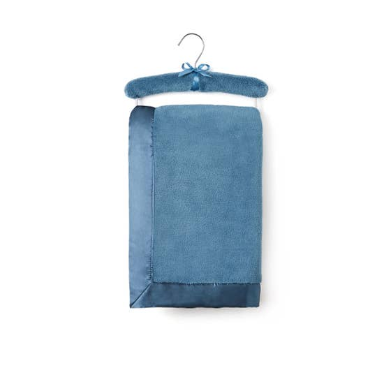 Hanging Teal Coral Fleece Blanket