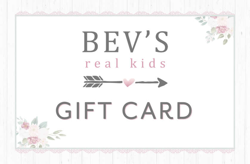 Bev's Real Kids Gift Card