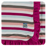 Geology Stripe Ruffle Toddler Blanket