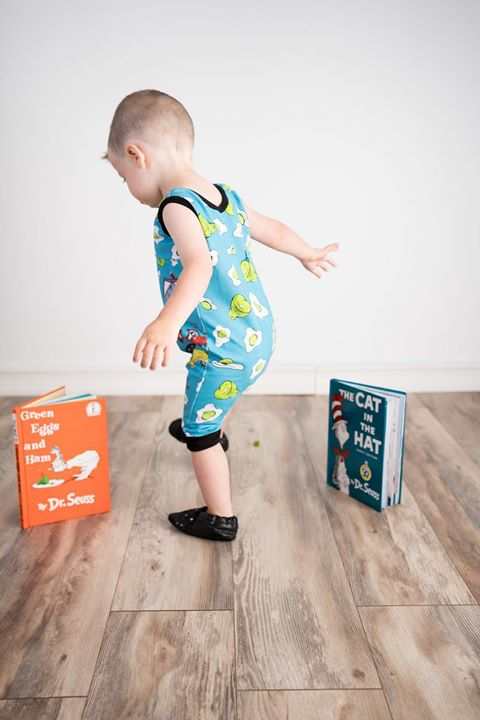 Dr Seuss Green Eggs and Ham Romper