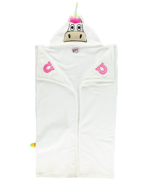 Unicorn Critter Hooded Blanket