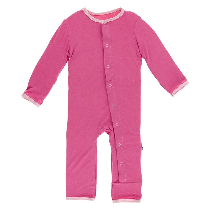 Holiday Applique Coverall in Flamingo Rainbow Baby