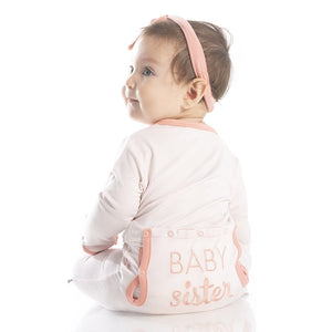 Kickee Baby Sister Coverall Macaroon