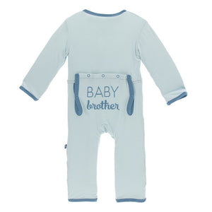 Kickee Baby Brother Coverall Spring Sky