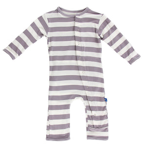 Coverall Feather Contrast Stripe Snaps