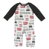 Long Sleeve Raglan Romper London Transport