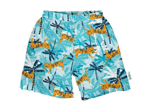 Classic Swim Trunks with Built-in Reusable Absorbent Swim Diaper