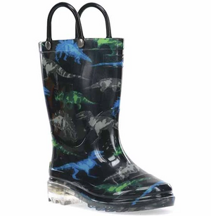Dinosaur Friends Light Up Rain Boots