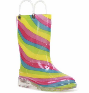 Rainbow Light Up Rain Boots