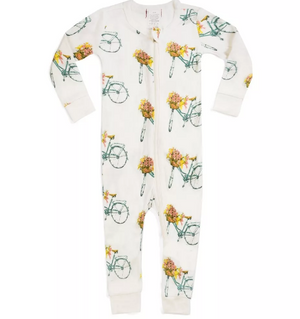 Zipper Pajama Bamboo Bicycle