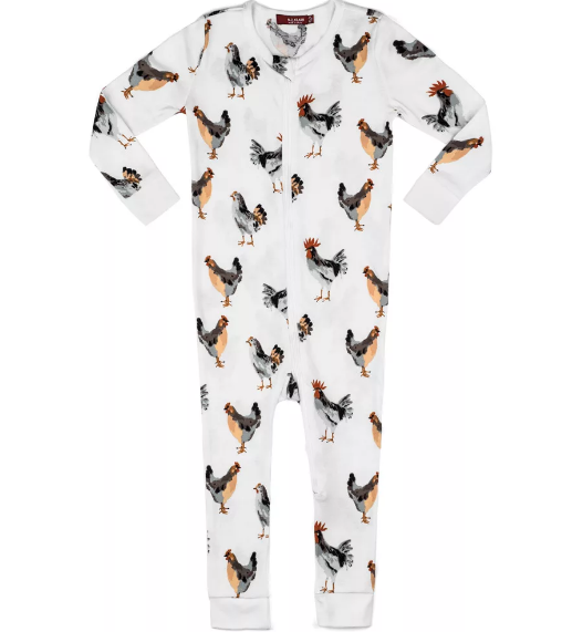Zipper Pajama Organic Chicken
