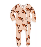 Footed Romper Organic Horse