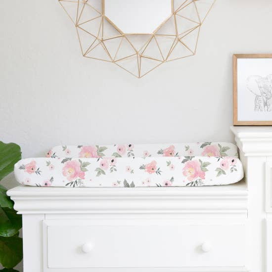 Floral Changing Pad Cover Sheet