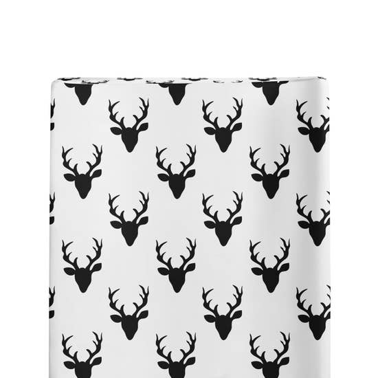 Changing Pad Cover Black and White Buck