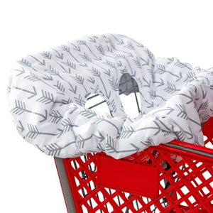 Shopping Cart Cover Grey Arrows